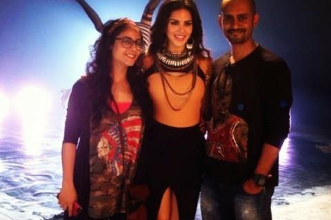 Uma-Gaiti shooting Pink Lips with Sunny Leone